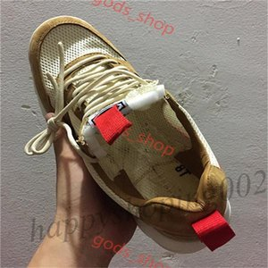 2021 Nouveau relâché Tom Sachs Craft Mars Yard Ts Nasa 2.0 Chaussures AA2261-100 Na2261-100 Natural / Sport Red-Maple Unisexe Chaussures de causalité Taille 36-45