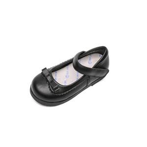 Nuove scarpe per bambini in pelle full chicco di cuoio bambino Bambino traspirante appartamenti in vera pelle principessa ragazze scarpe bambini studentesco nero