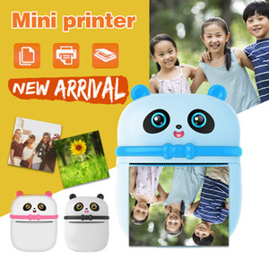 Portable Panda Thermal Printer Mini Pocket Multifunction Label Photo Printers Fast Printing Home Use Office For Photo Album DIY