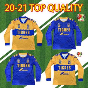 Manga larga 2020 2021 Tigres Jerseys de fútbol de 7 estrellas Camiseta de Futbol México Liga MX Camisa de fútbol Gignac de manga llena