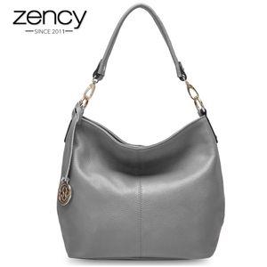 ZENCY Charm Purple Donne Borsa a tracolla 100% in vera pelle Hobos Fashion Lady Messenger Crossbody Borsa Elegante borsa femminile