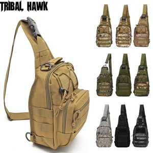 Outdoor Military Tactical Shoulder Bag Hiking Camping Sling Backpack Molle Chest Hunting Pack Fishing Bag Right Left Adjustable Q1224