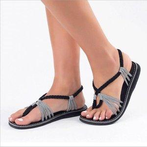 Summer Ladies Shoes Bohemia Beach Sandals Platform Sandals Woman Female Shoes Footwear Red Flat Sandalia Feminina Zapatos Muje