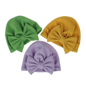Newborn Hat Cute Bow Baby Turban Solid Color Infant Caps Bowknot Elastic Headband Cute Headwrap Polyester Head Accessories sqcUyV hjfeeling