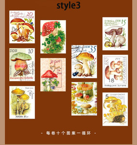 1roll Retro Stamp Series Washi Masking Sticker Tapes Literary Plant Decorative Diy Adhesive Scrapbooking Stickers 5m bbyqYb packing2010