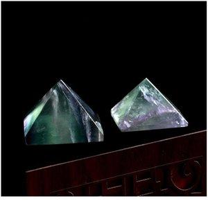 1pc fluorite naturel pyramide cristal point cristal cristal pierre naturelle cadeau minéral maison étude décoration free jlldvu