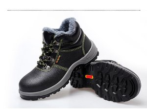 Anti-smash labor protection cotton shoes Keep warm and protect yourself from the cold custom Help with velvet protective Winter labor insura