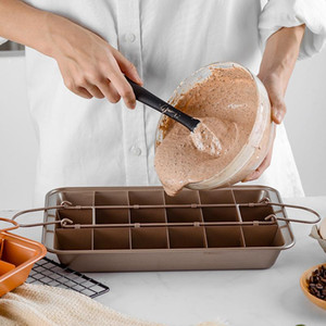 Выпечки 18 полость из нержавеющей стали из нержавеющей стали съемные инструменты для выпечки квадратная решетка без палочки шоколадный хлеб для формы для выпечки хлеба VTKY2235