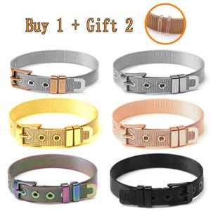 10mm Stainless Steel Mesh Watch Belt Bracelets For Women Men Fit Original Golden Rose Gold Black Colorful Mesh Bracelet Bangle