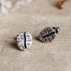 925 Beans en argent sterling café Boucles d'oreilles femmes Punk Boucles d'oreilles Parti Vintage Bijoux Argent mariage pour les filles Femmes Bijoux