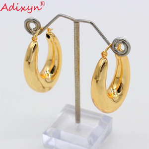 Adixyn Trendy Smooth Eariings for Women Rose Color Earring Jewelry Africa Ethiopian Party Items N0808-3