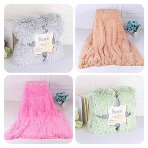 Blankets Soft Fur Faux With Fluffy Throw Blanket Bed Sofa Bedspread Long Shaggy Soft Warm Bedding Sheet Cozy Blankets