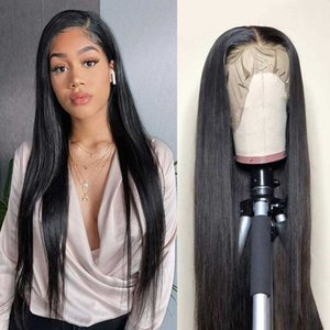 Straight Lace Front Wig Human Hair Wigs Brazilian Virgin Remy Hair 150 Density Pre Plucked Lace Closure Wig for Black Women