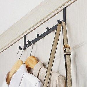 Practical Wrought Iron Door Hook Wall Hanger Hat Durable Kitchen 5 PCS Connected Door Clasp For Home Supplies Iron