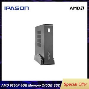 IPASON البسيطة PC المكتب التجاري الكمبيوتر المكتبي AMD A10 النسخة المطورة FX9830P رباعية النوى 8G RAM 240G SSD ويندوز 10 الرئيسية