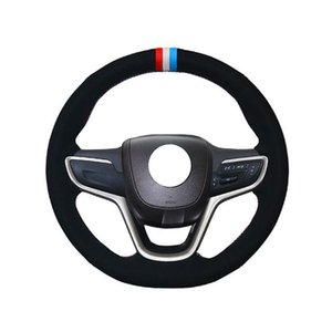 Hand-stitched Leather Steering Wheel Cover For Buick,DIY Steering Wheel Cover For Car Universal 15 inch