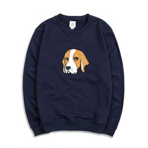 Hajia 2020 весной новый мужской длинный рукав Pasted свитер свитер вышивка патч ткань Терри хлопок молодежная мода V2fya