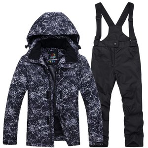 Boys Girls Snow Children Jacket Pants Kid Ski Suit Set Thickened Pocket Fashion Zipper Thermal Winter Snowboarding Waterproof