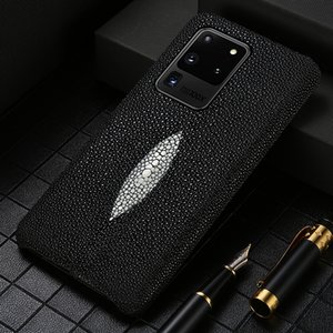 Genuine Stingray Leather Phone Case for Samsung galaxy Ultra S20 FE S8 S9 S10 Plus Note 20 10 9 A50 A70 A71 A51 2020 A31 M31