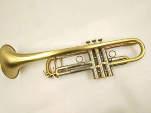 New Arrival MARGEWATE Bb Tune Trumpet Brass Plated Professional Musical Instrument With Case Mouthpiece Free Shipping