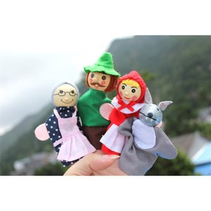 Baby Little Red Riding Hood Christmas Animal Finger Puppet toy Educational Toys Storytelling Doll Hand Puppets Drop Ship