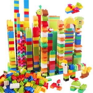 Duploed Yapı Taşları ile Uyumlu Hayvanlar Heykelcik Klasik Şehir Tuğla Kösteklik Eğitici Oyuncaklar Çocuklar için LJ200928