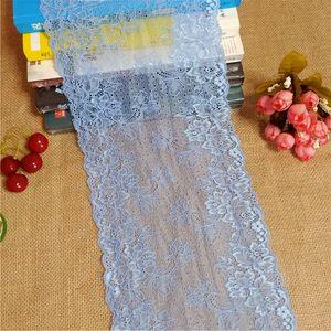 E3200 Chantilly lace 17.6cm color elastic soft mesh eye spandex elastic white lace decorative skirt set table umbrella