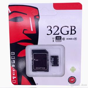 2020 Best-seller cartão de memória flash de 64GB 128GB 256GB C10 TF U1 U3 gratuito SD Adapter pacote de varejo