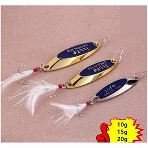 new gold silver spoons fishing bait 10g 15g 20g atificial metal vib blades lure spinner bait
