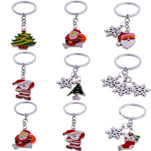 Cute Mini Christmas Tree Design Handbag Keychain Key Ring Decorative Car Key Chain Trinket Souvenir Christmas Gift Key Pendant bbysvn