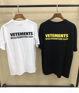 Europe France High Quality Vetements Tshirt Hip Hop metallic Design T Shirts Men Women Clothes Casual Cotton Tee Top