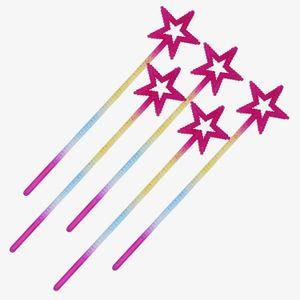 Star Magic Zauberstab Pentagramm Fairy Stick Cartoon Fünfzeige Stern Magic Stick Baby Mädchen Halloween Cosplay Prinzessin Zubehör 3 Farben Z1426