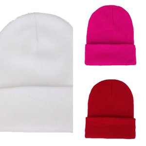 Personality Diy Design Custom Autumn Winter Solid Color Knit Hats Skullies Beanies for Men Women Team Brand Customize Caps NAPH