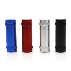 Custodia in lega di alluminio Spazio Polline Polline Press Hash Compress con 2 aste di tassello in metallo Premere Polline Pollen Smoking Acqua Pipes Grinder DHL