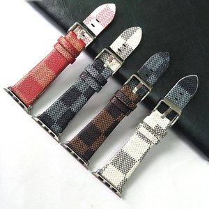 Apple Watch38 / 40mm 42 / 44mm 시리즈 시계 밴드 좋은 품질의 편지 가죽 디자이너 스트랩 iWatch 6 5 4 3 2