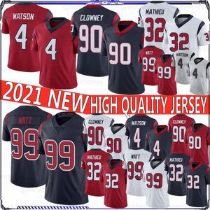 4 Deshaun Watson 2021New Man Jersey Football 99 T.J. Watt Football Jersey 10 Deandure Hopkins 87 Deminius Thomas 90 Jadeveon Clowey
