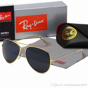 2020 de haute qualité marques Ray Lunettes de soleil Vintage Pilot Wayfarer Lunettes de soleil UV400 des femmes des hommes Bans Hommes Femmes Ben verre Bain lentilles avec boîte