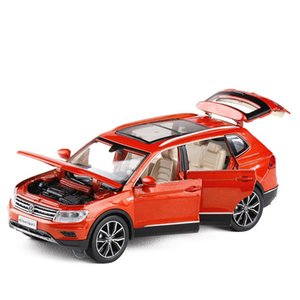 1 32 Tiguan L Simulation Toy Vehicles Model Alloy Pull Back Children Toys Genuine License Collection Gift Off-Road Vehicle Kids