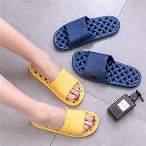 Bevergreen Home Çift Kadın Hollow Hızlı Kuru Ayakkabı Nefes Terlik PVC Banyo Yaz Çıkışı Terlik Kaymaz Terlik Ev Dovgs