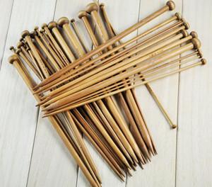 36pcs / Set Бамбуковые спицы 18 Размеры одного Остроконечные Smooth вязания Наборы инструментов 2 +0,0 -10 .0mm
