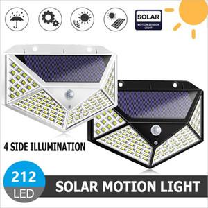 212 LED Güneş Işık Açık Güneş Lambası Powered Güneş Işığı Su Geçirmez PIR Hareket Sensörü Sokak Işık Bahçe Dekorasyon için