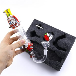 Hot Glass Nectar Collector Premium Tobacco Bag Set Wax Container Silicone bong with Titanium nail Storage Jar Metal Dabber Smoking Pipe