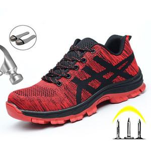 Tête en acier Sécurité au travail Chaussures Casual respirante Sports de plein air Chaussures hommes Crevaison Bottes de protection industrielle confortable