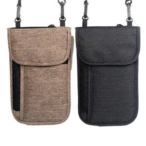 Neck Hanging Travel Passport Cover Wallet ID Holder Storage Clutch Money Bag Travel Multifunction Package