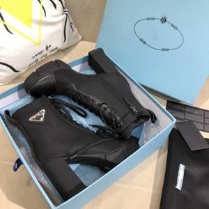 2020 Yeni Tasarımcı Deri ve naylon kumaş patikler Kadınlar Bilek Boots Deri Biker Boots Avustralya Patik kışlık botlar boyutu Eur 35-41