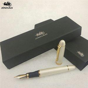 1 шт / много Jinhao X450 авторучка 12 цветов Золото / SilverBlack / красный / зеленый Ручки Jinhao Школьные принадлежности Papelaria 14,3 * 1.3cm OznO #