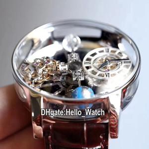 V2 Статическая версия Epic x Chrono CR7 Астрономический турбийон скелет авантрин циферблат швейцарский кварцевый мужской часы стальной корпус кожи Hello_Watch.