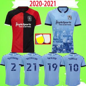 20 21 كوفنتري سيتي لكرة القدم جيرسي Biamou باكايوكو Godden Jobello شيبلي Ostigard جونز ألين هيام 2020 2021 المنزل بعيدا قميص أزرق كرة القدم