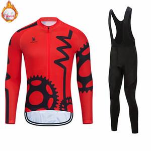2021 Kış Termal Polar Bisiklet Takımı Erkekler Jersey Suit Spor Binme Bisiklet Giyim MTB Ropa Ciclismo Önlüğü pantolon Bisiklet Giysiler