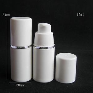 15 ml 30 ml 50 ml Yüksek Kalite Beyaz Havasız Pompa Şişesi-Tutma Doldurulabilir Kozmetik Cilt Bakımı Krem Dispenser Losyon Ambalaj Konteyner DWF3936